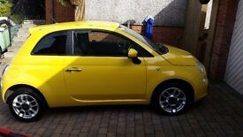 Fiat 500 1.2 sport,stunning yellow and in beautiful condition