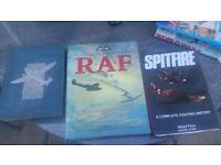 Lots of war books and books on aeroplanes for sale