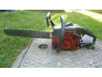 Jonsered husqvarna chainsaw with large bar