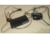 2 set top box, scart lead and remote