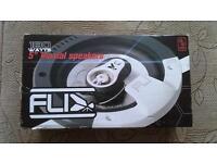 """FLI 180 watts 5"""" triaxial speakers unused"""