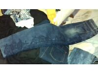 jeans with croquette