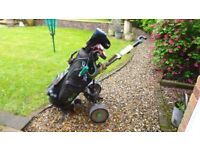 Golf Clubs with electric Hill BillyTrolley and other bits