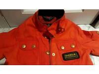 Kids genuine Barbour waxed jacket union flag XXS