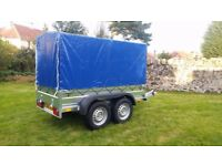 New Car trailer 2700kg, with cover 190 cm Braked trailer 2700kg £ 1850 INC VAT