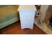 Vintage Retro Style 2 Drawer Bedside Table Bathroom Cabinet Chest Side Table