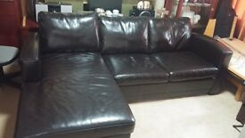 Black Leather Corner Sofa Bed