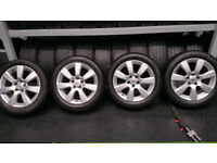 Vauxhall Genuine 17 alloy wheels + 4 x tyres 215 50 17