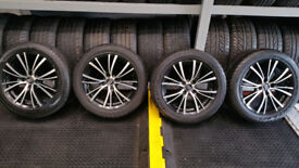 MSW 16 alloy wheels + 4 x tyres 205 50 16 PCD 4 x 100, Vauxhall,Toyota,Renault,and more