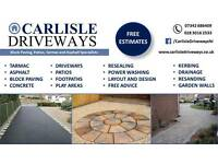 Carlisle Driveways, block paving, tarmac, and asphalt specialists