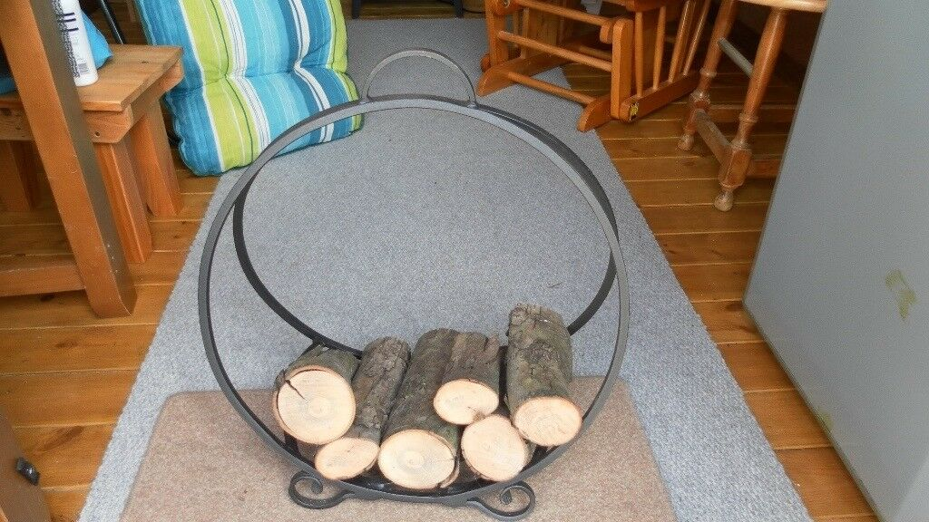Wrought Iron Log Stand