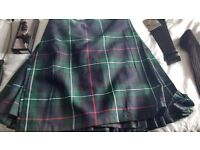 Highland wear items including kilt