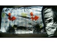 Fox toddler duvet set and fitted cotbed bedsheet.
