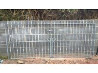 Wrought Iron Galvanised Driveway Garden Gates 10ft (3060mm) including hinges £150