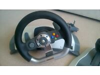 xbox360 steering wheel and pedals