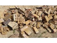 Rubble- red bricks from demolition
