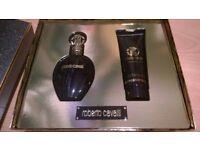 BNWT Roberto Cavalli Nero Assoluto Gift Set EDP Spray 50ml and Body Lotion 75ml