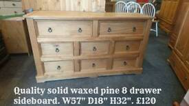 Quality chest of pine drawers