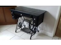 vintage retro singer sewing machine table