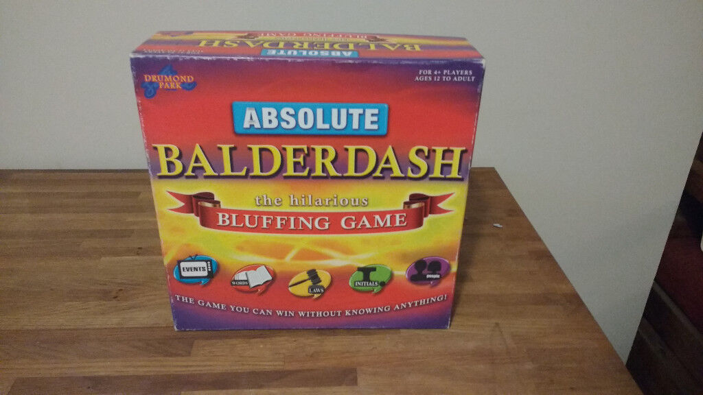 Absolute Balderdash the hilarious bluffing game