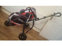 Wilson Golf Bag with Masters Trolley