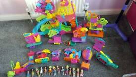 Polly pocket bundle with figures