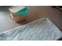 Cot mattress cover and baby changing box