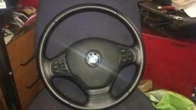 BMW F30 steering wheel and airbag