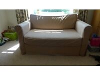 Ikea Hagalund Sofa bed - 2 seater - pull out - biege