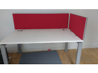 Bright red desk dividers / partition