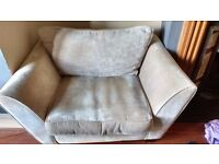 Love Seat for Sale £20. Light Brown, quality furnished from Lee Longlands. W: 139cm, D:96cm.