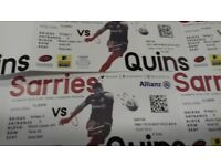 Saracens V Quinns tickets (2 adults 4 junior) 24th March