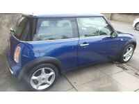 Blue 1.6 Mini Cooper for sale. Service book,great condition, great runner