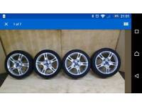 """Ford fiesta 16"""" alloy wheels with new tires zetec s"""