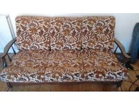 3 seater, 60s sofa bed
