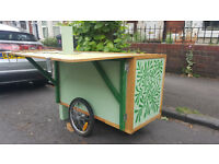 Handcrafted Bicycle Trailer/Food Cart or Stand