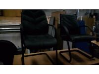 2 black leather office chairs 25 pounds each