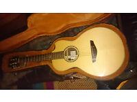 Faith 'Mercury' Electro Acoustic parlour guitar in hard case
