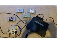Nintendo 64 With one controller and 4 Games