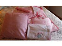 Pink Girls Toddler Bed set