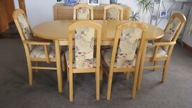 Dining Room Table and Six Chairs - H J Berry