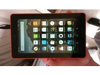 amazon fire kindle 5th gen in red