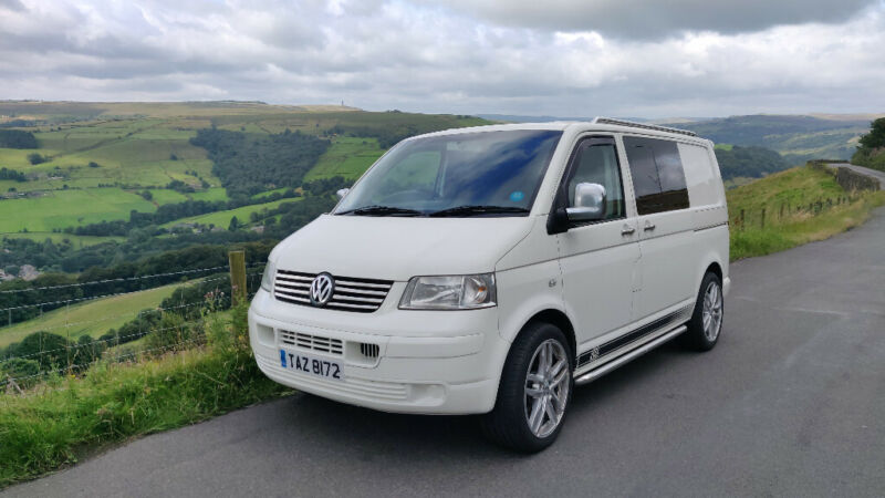 VW T5 Transporter T28 Day Van / Camper. Rock and roll bed. Sportline leather seats. 20inch alloys. for sale  Hebden Bridge, West Yorkshire