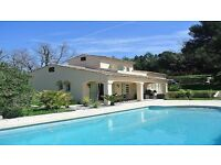 CANNES-12 minuts palais festivals VILLA 220m²-PRIVAT POOL HOT-for your congrest-CLIM-