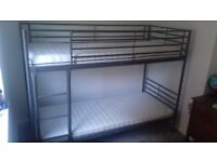 Ikea bunkbed with mattresses