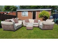 DFS 3 + 2 (with bed) + 1 + footstool - excellent condition - clean and comfy // free delivery