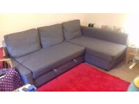 Dark grey double sofa bed for sale. Only 6months old. £300. Very comfy