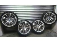 Bmw m-sport mv3 alloy wheels complete with excellent tyres
