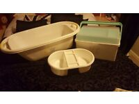Mothercare roll up roll up baby bath, box and top to tails.