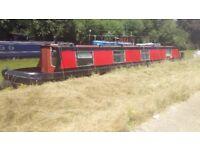 42ft all steel narrow boat (engine broken)